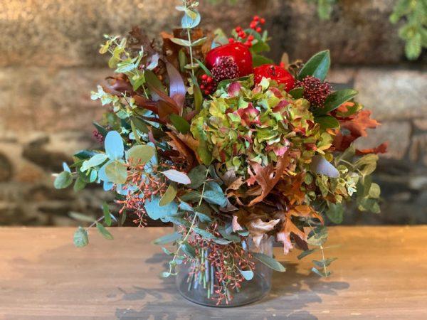 Jarron de flores otoñal APPLE