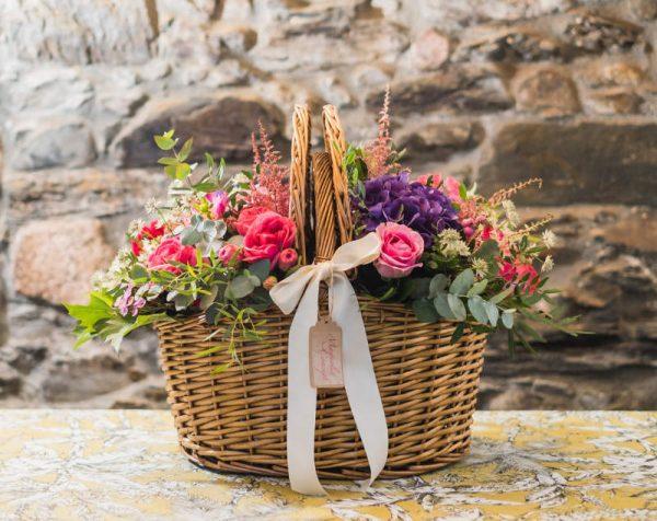 cesta+flores+magnolia